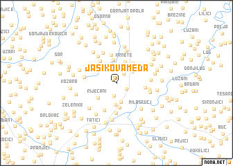 map of Jasikova Međa