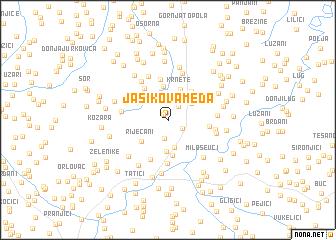 map of Jasikova Međa