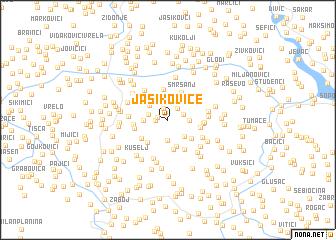 map of Jasikovice