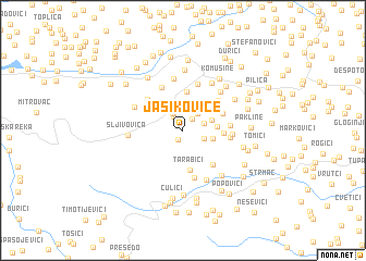 map of Jasikovice