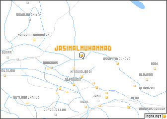 map of Jāsim al Muḩammad