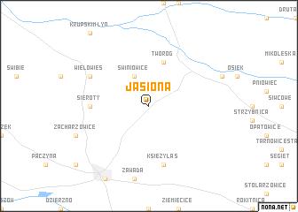 map of Jasiona