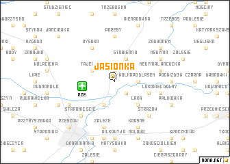 map of Jasionka
