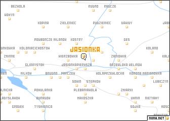 map of Jasionka
