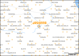 map of Jasionna