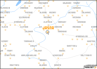 map of Jasna