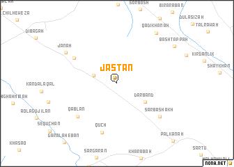 map of Jastān