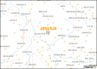 map of Jašunja
