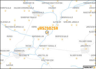 map of Jászdózsa