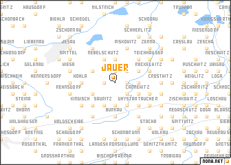 map of Jauer