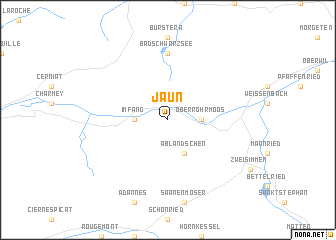 map of Jaun