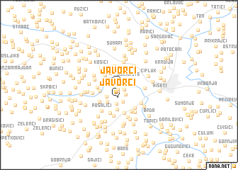 map of Javorci