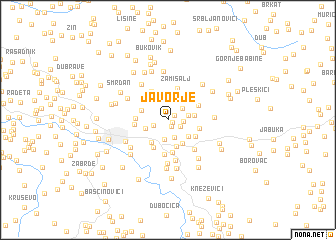 map of Javorje
