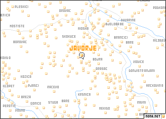 map of Javorje