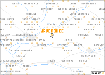 map of Javorovec