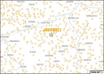 map of Javrboci