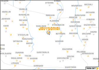 map of Javydoniai