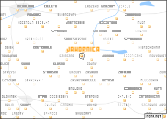 map of Jawornica