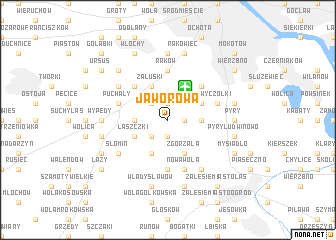 map of Jaworowa