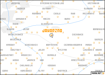 map of Jaworzno