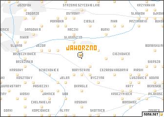 map of Jaworzno