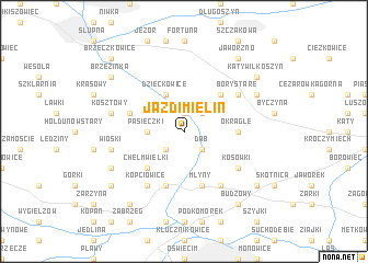 map of Jazd-Imielin