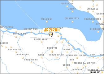 map of Jazīrah