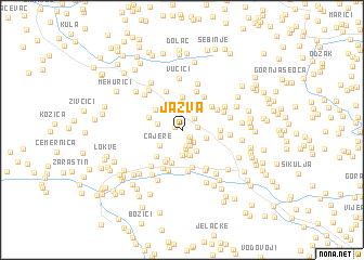 map of Jažva