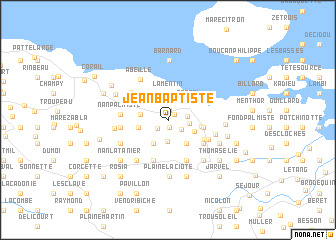 map of Jean-Baptiste