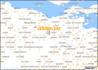 map of Jean Bélune