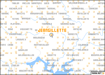 map of Jean Gillette