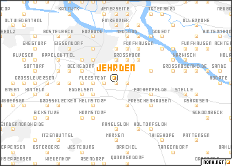 map of Jehrden