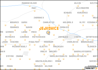 map of Jejkowice
