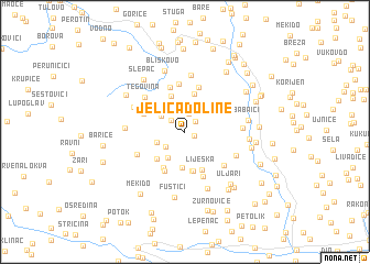 map of (( Jeliča Doline ))