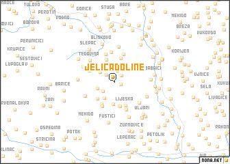 map of (( Jeliča Doline ))