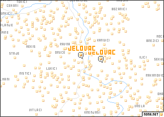 map of Jelovac