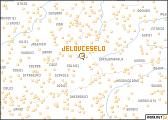 map of Jelovče Selo