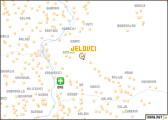 map of Jelovci