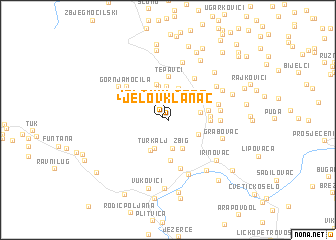 map of Jelov Klanac