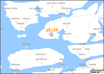 map of Jelsa