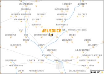 map of Jelšovce