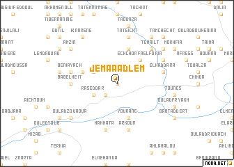 map of Jemaa Adlem