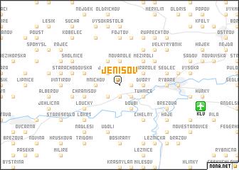 map of Jenišov
