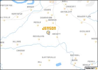 map of Jenson