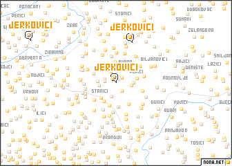map of Jerkovići