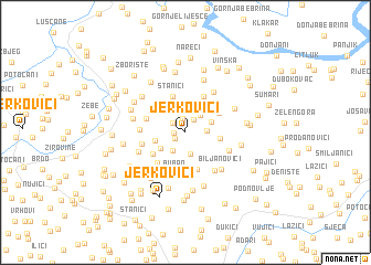 map of Jerkovići