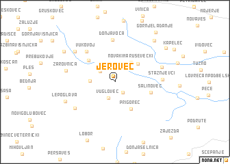 map of Jerovec