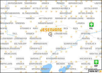 map of Jesenwang