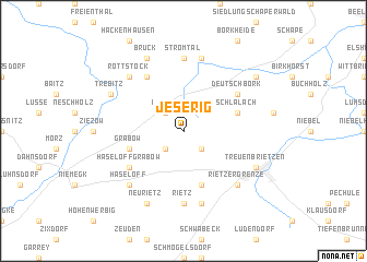 map of Jeserig