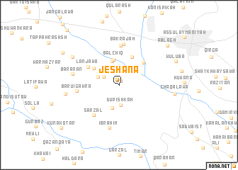 map of Jēshāna